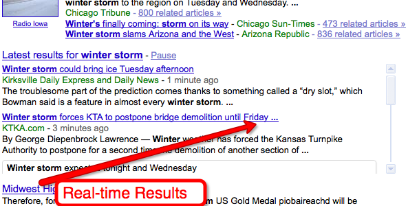 Real-Time Google Results